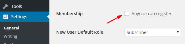 User Resistor option in wordpress
