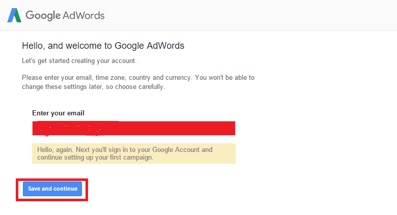 email option of adwod